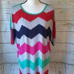 Colorful chevron blouse